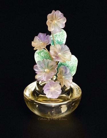 Каменный цветок - Резьба по минералам