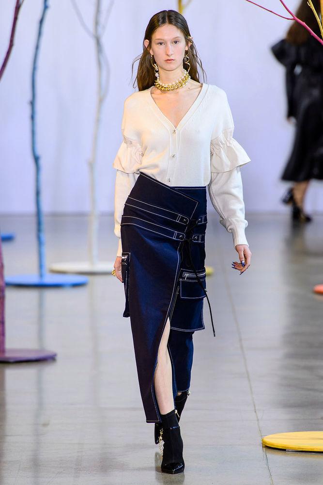 Весна 2020 — юбки сложного кроя, длина миди, фото № 11