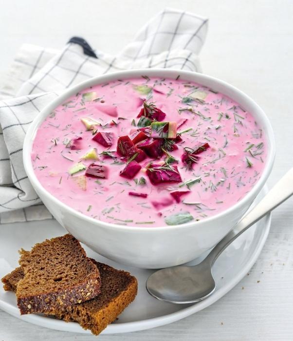 ДЕНЬ ПЕРВОГО БЛЮДА. Холодный суп из простокваши и свеклы