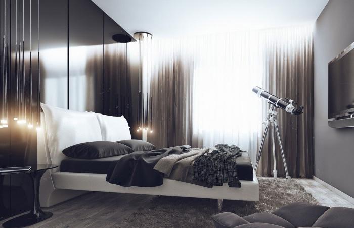 Холостяцкая квартира или как мужчине не прогадать с дизайном штор