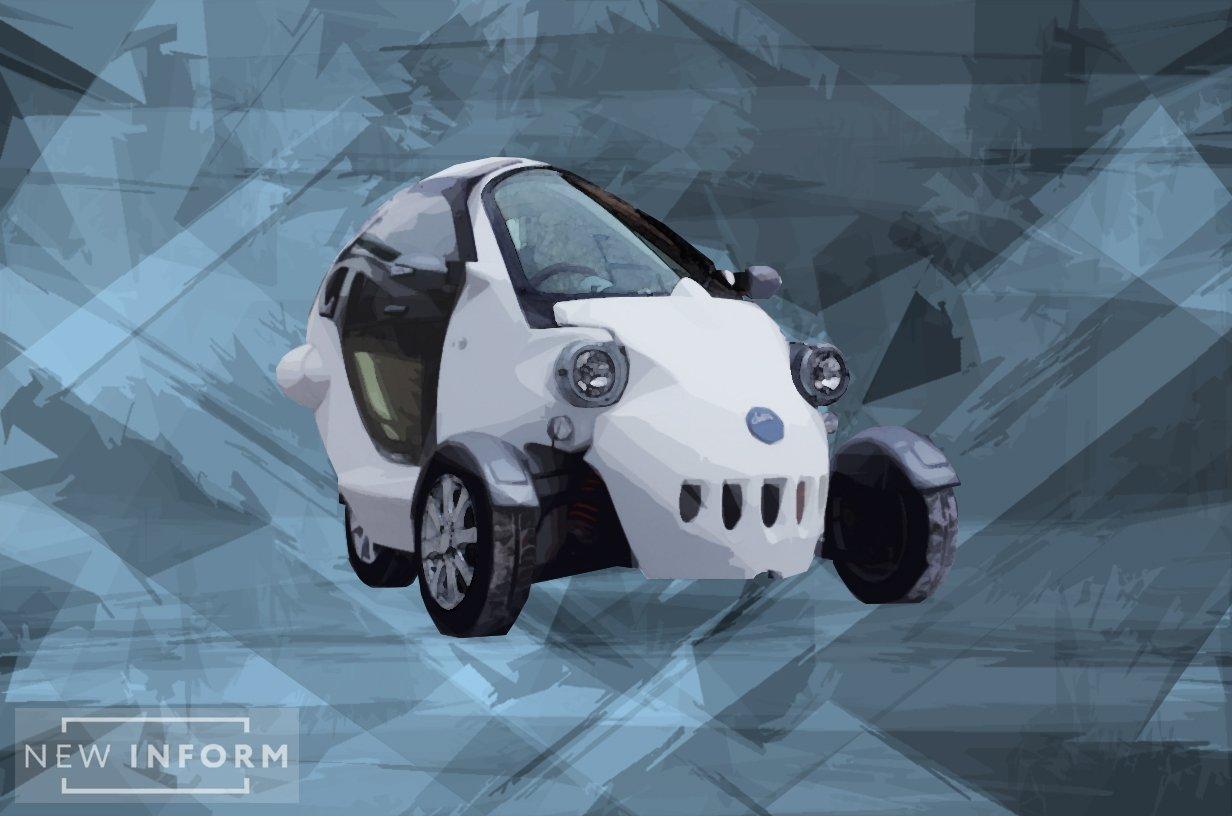 Инновационное машиностроение: в РФ создали трехколесный электрокар
