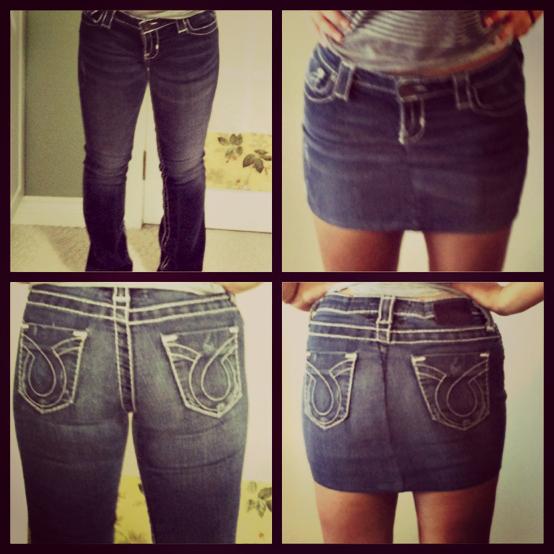 0cf14616ecac Делаем из старых джинс новые вещи! Коврик, юбка, сумка, шорты… — HandMade