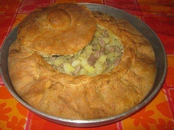 """Рецепт татарского национального пирога """"Зур бэлиш"""", что переводится как """"Большой пирог"""""""
