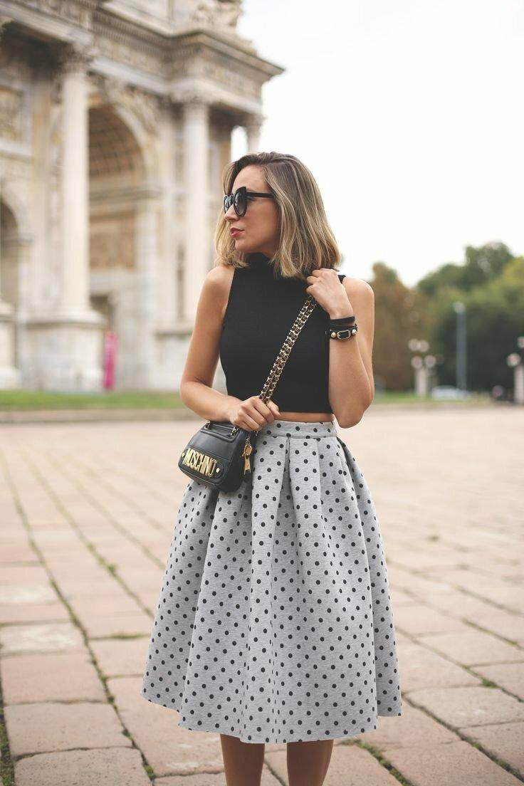 С чем носить пышную юбку