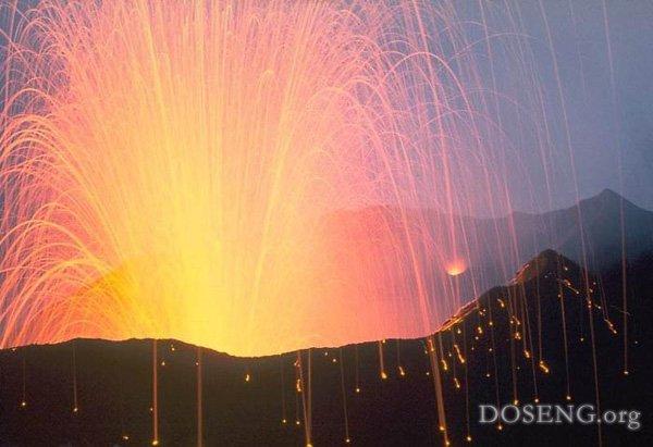 Красивые извержения вулканов…