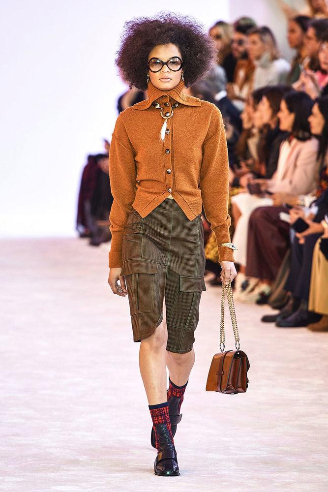 Весна 2020 — юбки сложного кроя, длина миди, фото № 42
