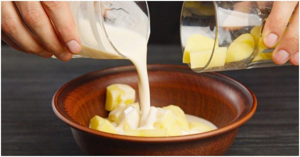 Сырая картошка и немного ряженки — вкусный и быстрый рецепт