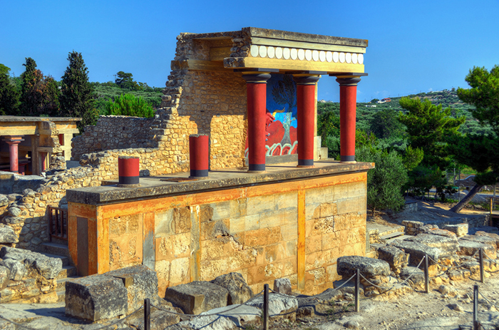 Руины Кносского дворца на Крите.