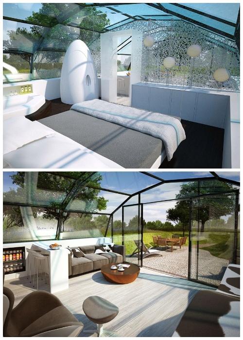 Такой инновационный прозрачный дом способен обеспечить человечка достаточным количеством света. | Фото: newatlas.com.