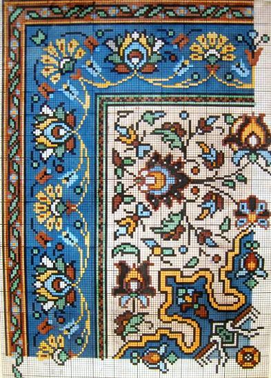 Старинные схемы для вышивки крестиком 884