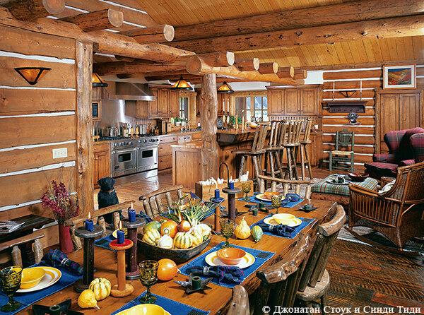 Деревенский стиль в деревянном доме