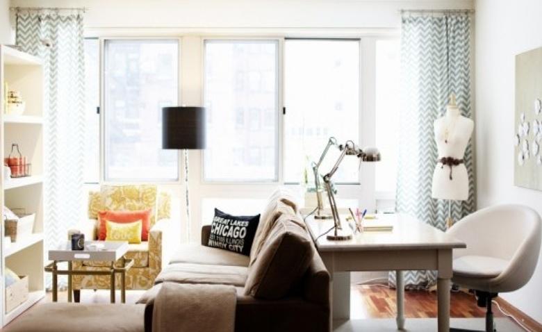 Размещаем кабинет в гостиной: варианты зонирования
