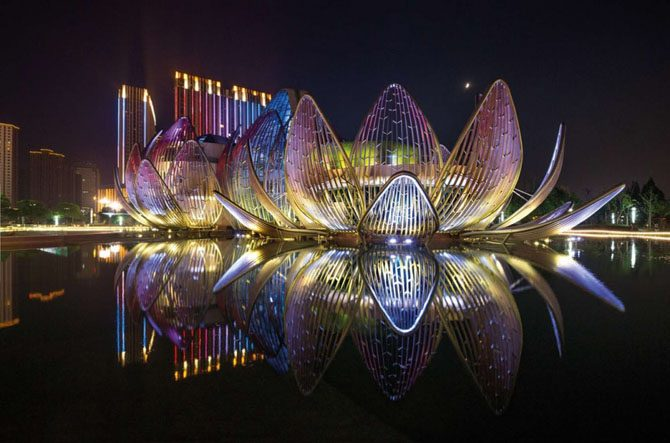 29 мировых архитектурных шедевров, которые ночью выглядят просто гипнотически архитектура,ночь,планета