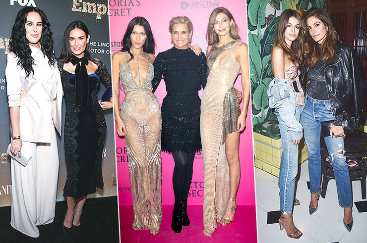 Выходы в свет знаменитых мам с дочками