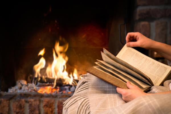 Что может быть приятнее чтения у камина?