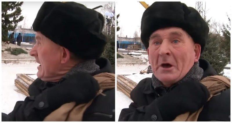 «Как Вам елочка?»: дедуля рассказал журналистам всё, что думает об этой ёлочке видео, дедуля, журналисты, новый год, юмор, ёлка