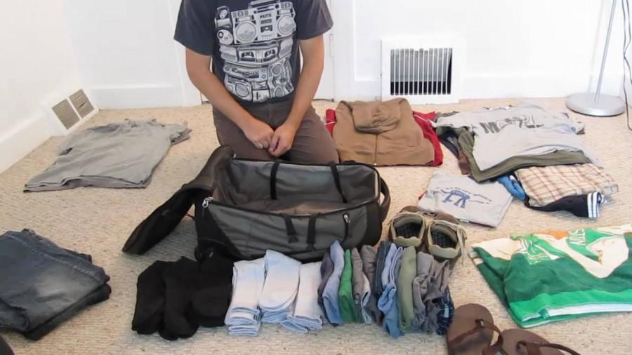 Лайфак от военных: как упаковать чемодан