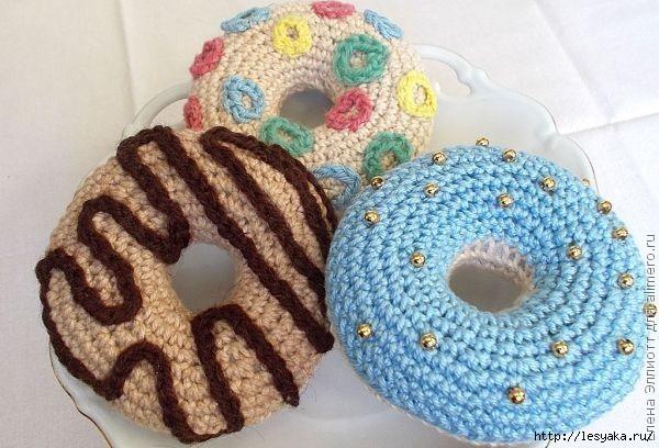 Игольница в виде пончиков