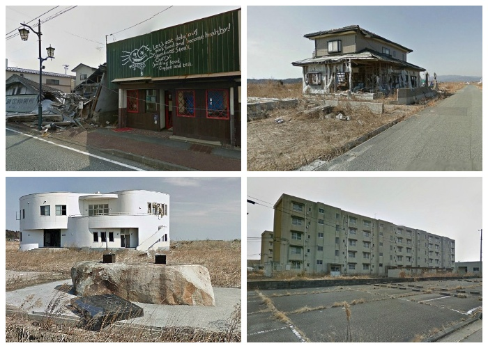 Город-призрак Намиэ продолжает разрушаться, навевая невероятную тоску (Япония).