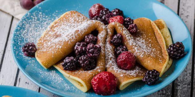 Творожные блины на кефире: простой рецепт
