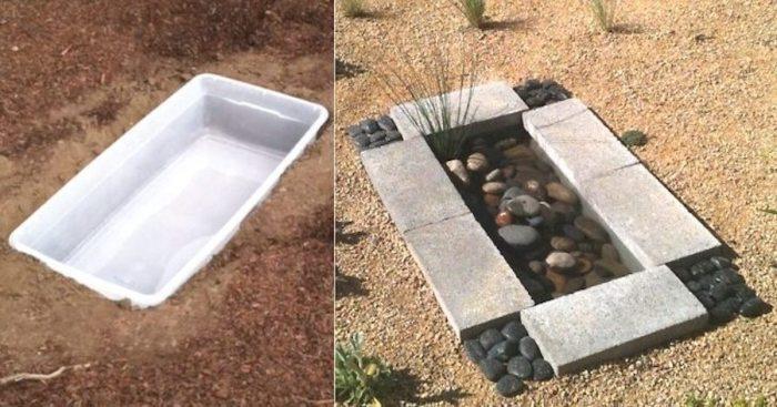 Для своего сада можно обустроить вполне симпатичный и эффектный водоем. /Фото: static.smalljoys.me