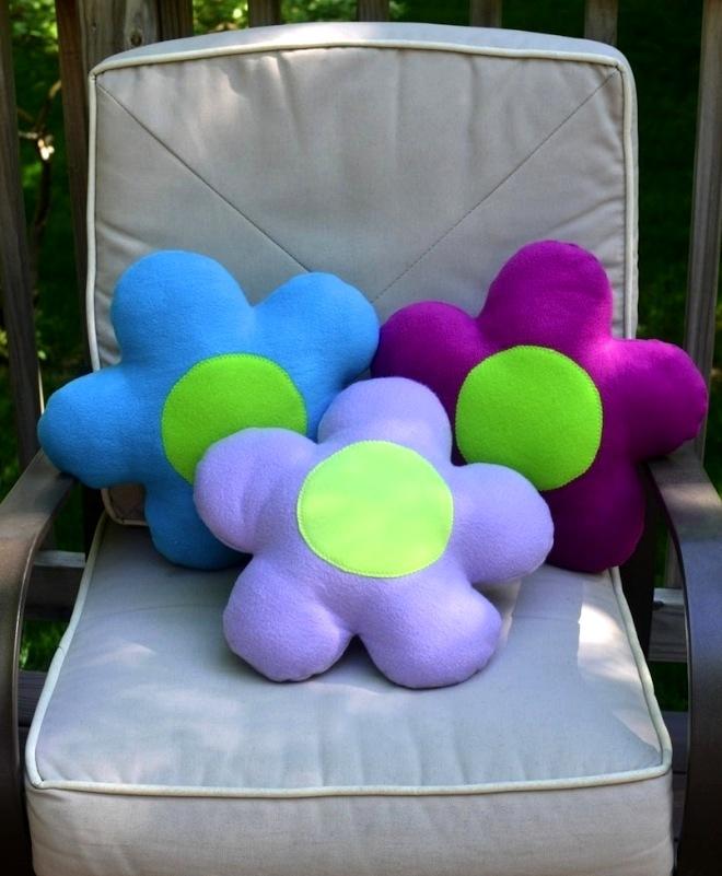 Декоративные подушки: цветы своими руками, выкройки