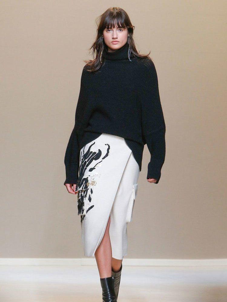 Весна 2020 — юбки сложного кроя, длина миди, фото № 14