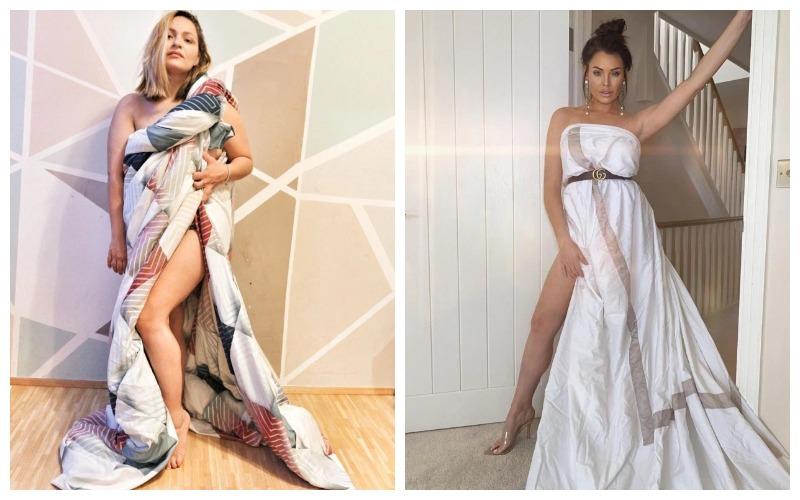 Новый тренд в Instagram: платья из одеяла