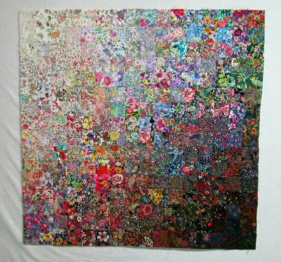 """Примеры текстильных работ в технике """"Акварель"""" лоскутное шитье,пэчворк,рукоделие,творчество,шитье"""