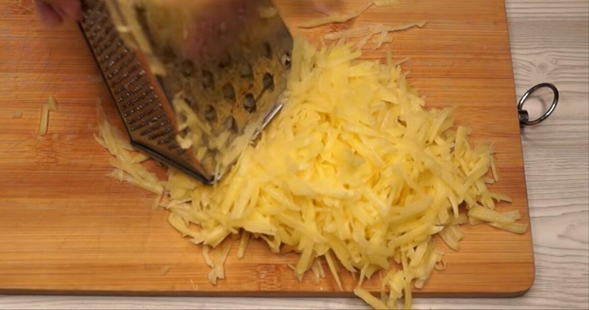 Натёртый картофель
