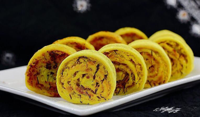 Постные рулетики из картофеля - традиционное индийское блюдо