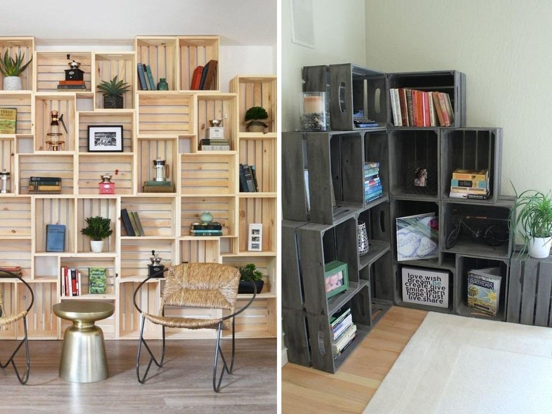 Необычная мебель из обычных ящиков: 41 яркая идея идеи для дома,интерьер и дизайн,своими руками