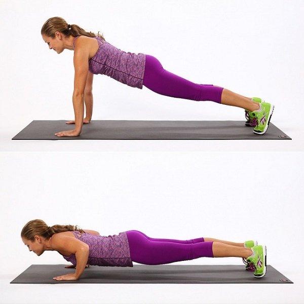 7 упражнений для идеальной фигуры. Отжимания