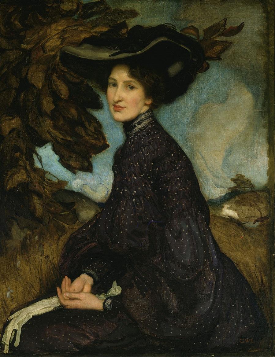 Живопись на тему женщина в шляпке