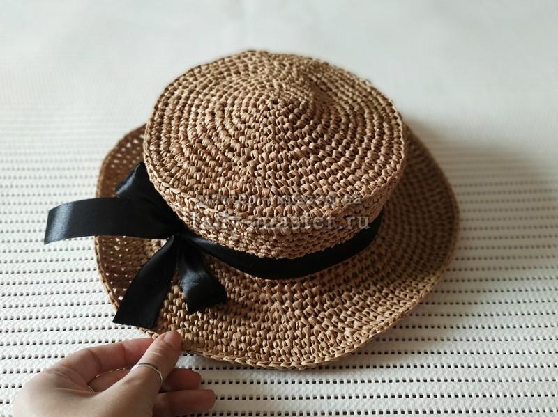 Модная летняя шляпка крючком
