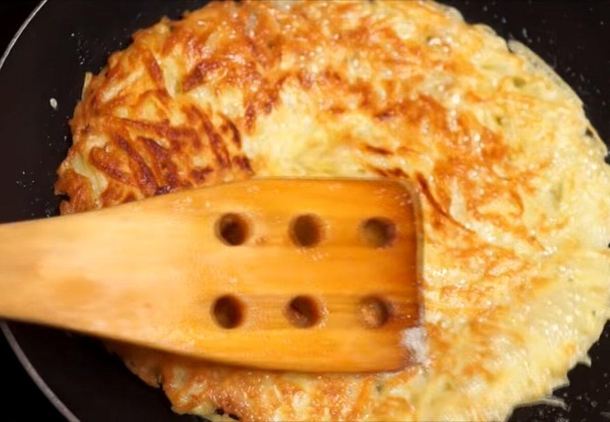 Обжаренный картофельный блин