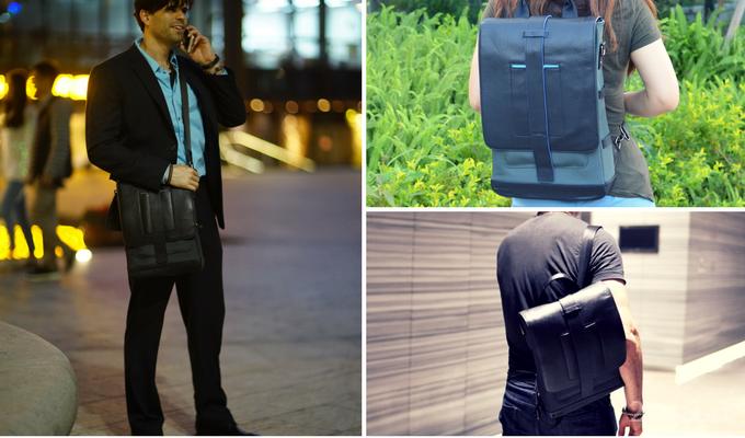 Универсальный рюкзак с солнечной панелью и аккумулятором