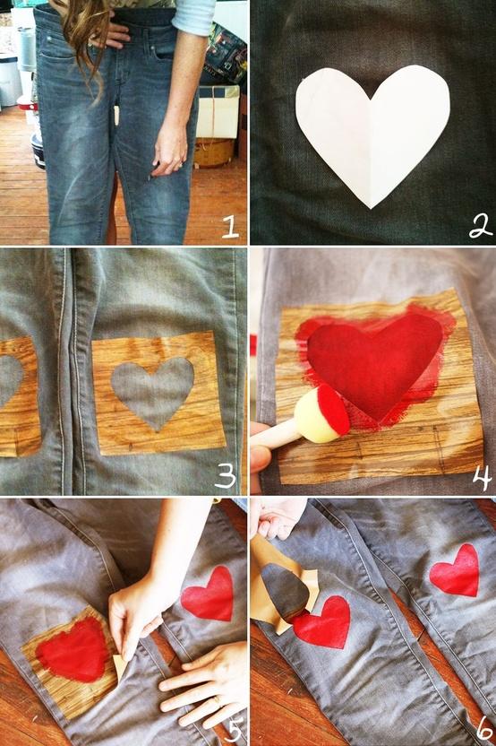 Декорирование джинсов принтами