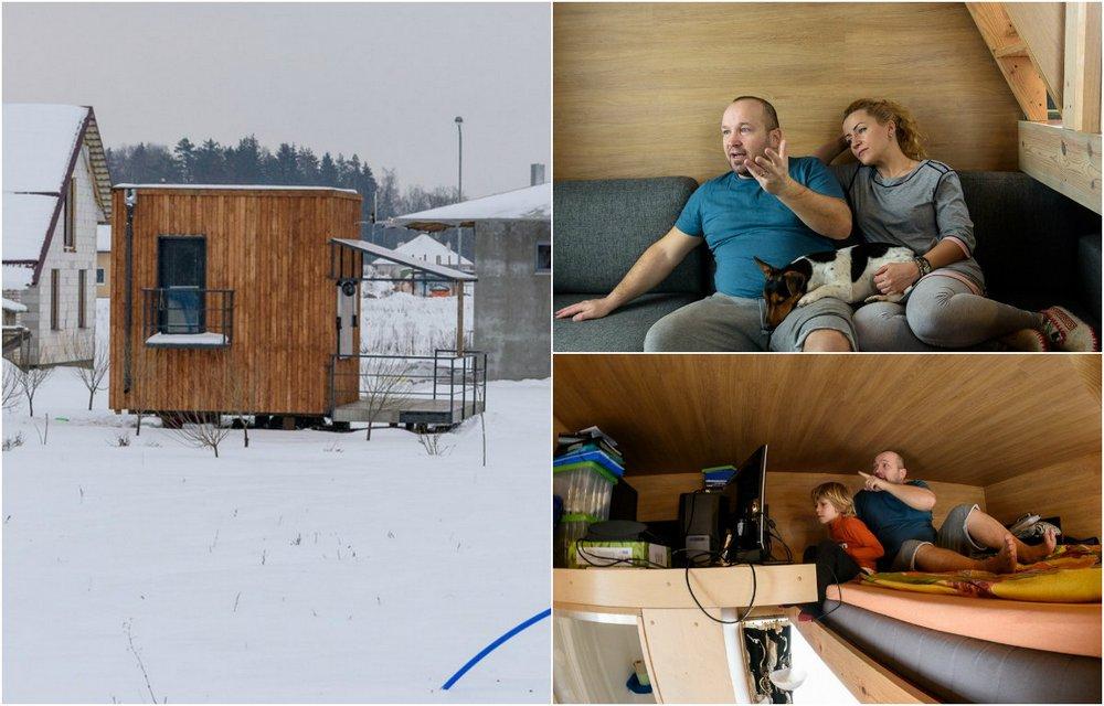 Семья живет в микродоме площ…