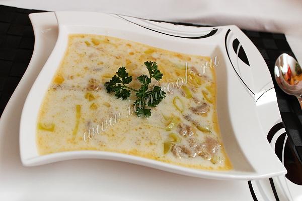 Рецепт немецкого сырного супа