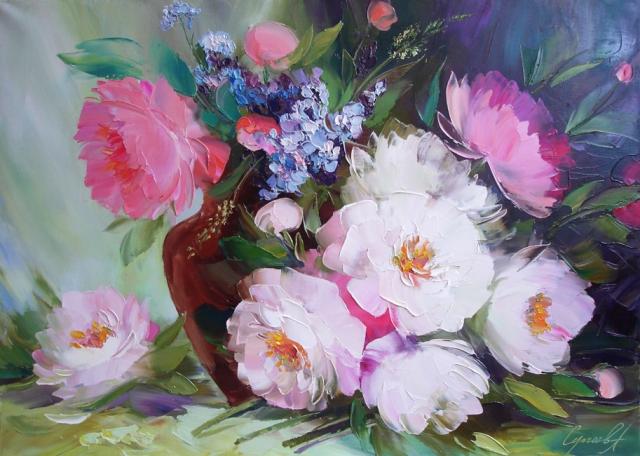 Цветочная живопись Александра Сергеева