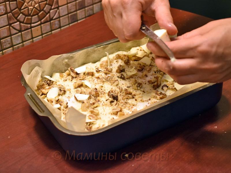 Божественный яблочный пирог. В каждом кусочке — блаженство! сахара, пирог, сливочного, посыпаем, Заголовок, Выкладываем, добавляем, растопленное, масло, солью, разрыхлителем, Нарезаем, очищенные, яблоки, смешиваем, тестом, хрустящей, формуДля, взбиваем, корочки
