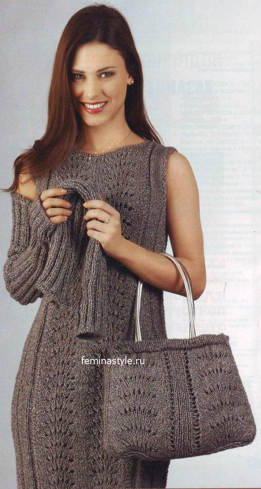 Платье,митенки и сумочка