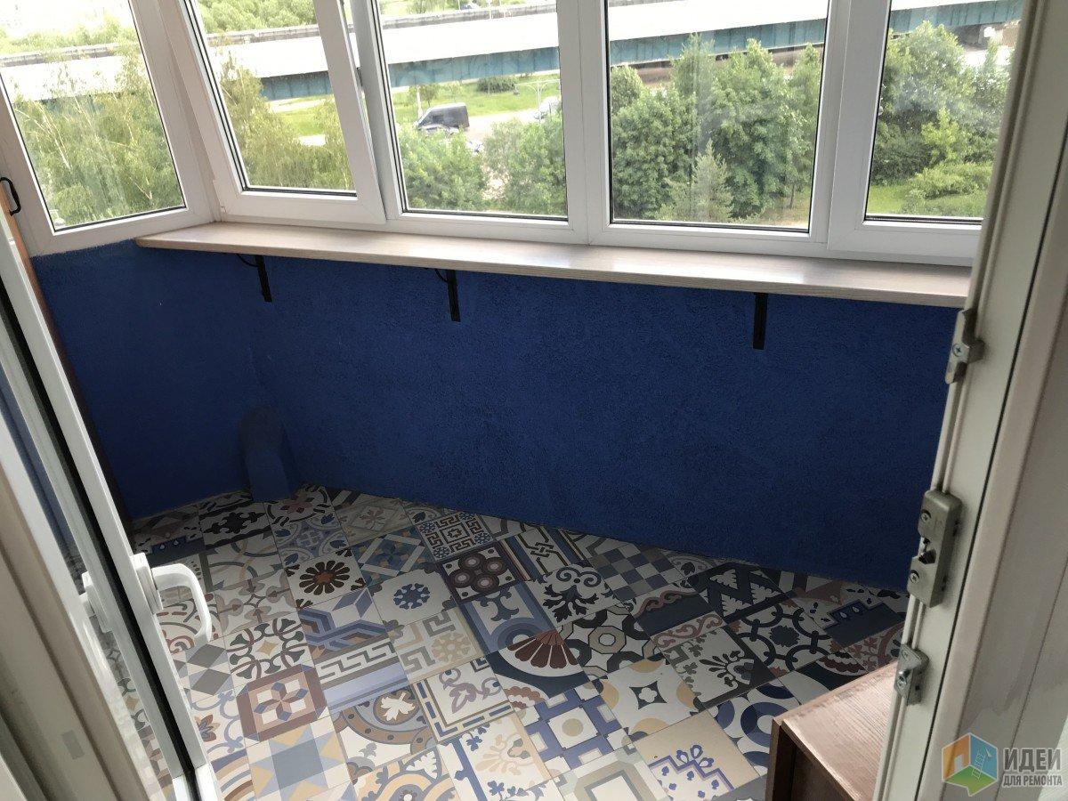 Некапитальный ремонт. Разноцветный балкон.