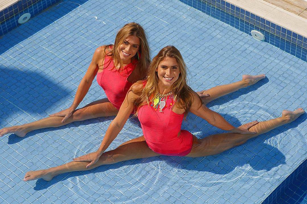 Сексуальные бразильские синхронистки-близнецы покоряют сердца болельщиков пикантными фото
