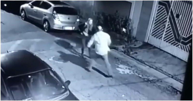 В Бразилии девушка-полицейский оперативно обезвредила напавшего на нее грабителя