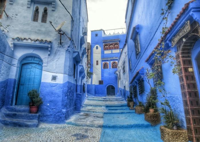 Марокканский город Шифшуан красят в синий цвет еще со средневековья