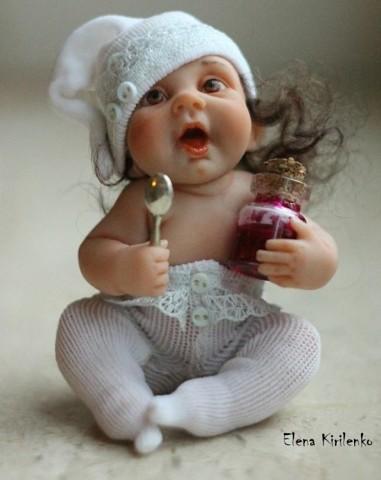 Куколка из полимерной глины, как настоящая! handmake,куклы и игрушки,поделки своими руками