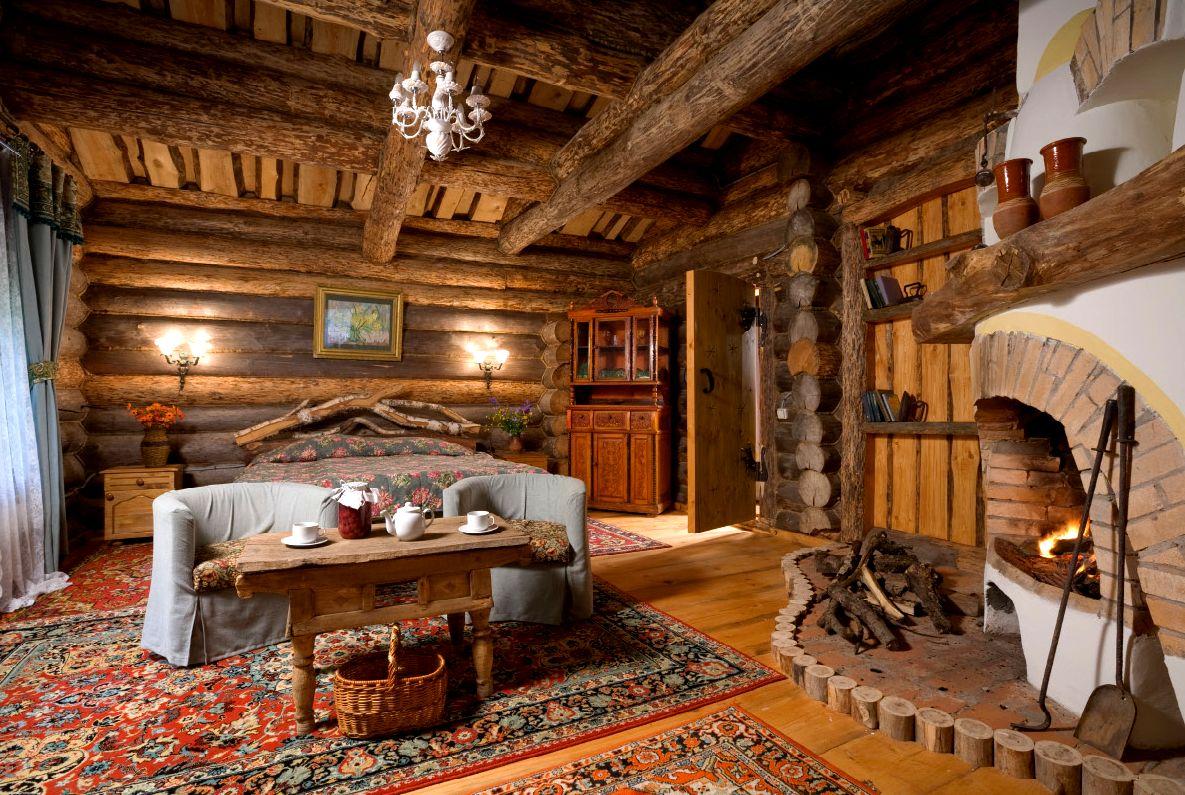 Деревянный дом печь скачать