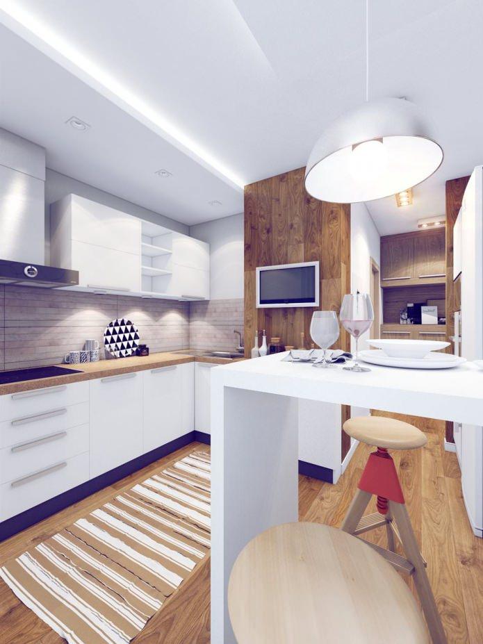 дизайн барной стойки в маленькой кухне